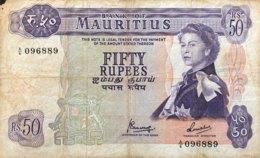 Mauritius 50 Rupees, P-33c (1973) - Good - Mauritius