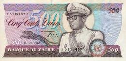 Zaire 500 Francs, P-30b (14.10.1985) - UNC - Zaïre