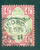 Great Britain 1892 Victoria Jubilee 4 1/2 D Used SG 206 Michel 92 Scott 117 WHAT YOU SEE IS WHAT YOU GET - Used Stamps