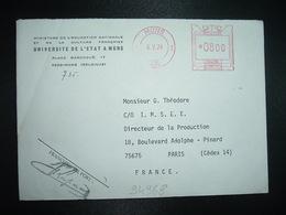 LETTRE Pour La FRANCE EMA B3532 à 0800 Du 8 V 78 MONS 1 = UNIVERSITE DE L'ETAT A MONS - Franking Machines