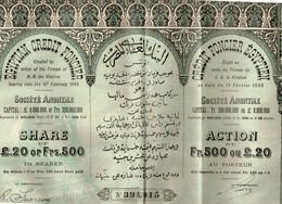 Titre Ancien - Crédit Foncier Egyptien - Egyptian Credit Foncier - Société Anonyme - Titre De 1905 - - Banque & Assurance
