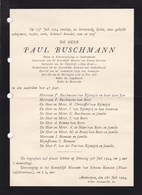 ANVERS ANTWERPEN BUSCHMANN Paul 47 Ans 1924 Conservator Van Het Koninklijk Museum Van Schone Kunsten - Décès