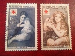 YT 1006 1007 Croix Rouge - Usati
