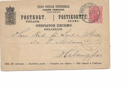 LE 0380. 1892. EP 10 P. Obl. NYKARLEBY Vers Helsinfors. TB - Finlandia