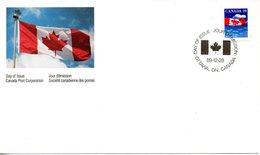 CANADA. N°1123 Sur Enveloppe 1er Jour (FDC) De 1989. Drapeau. - Buste