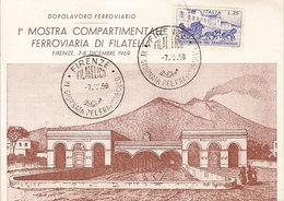 (St.Post.).Giornata Del Francobollo 1969.1^ Mostra Ferroviaria Di Filatelia (123-19) - Giornata Del Francobollo
