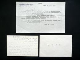 Autografo Beato Giacomo Alberione Lettere Note Amorth 1956-58 Edizioni Paoline - Autographs