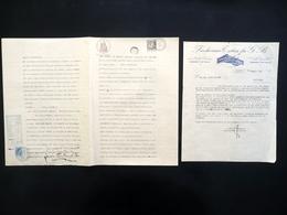 Autografo Beato Odoardo Focherini Firma Fattura Focherini Tobia Carpi 1935 Raro - Autografi