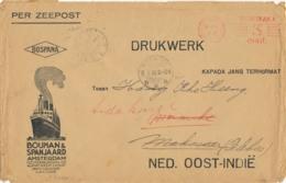 Nederlands Indië - 1929 - Retour Gezonden Drukwerk Van LB MERAUKE Naar Amsterdam - Niederländisch-Indien
