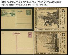 GANZSACHEN Partie Von 147 Verschiedenen Ganzsachenkarten Dt. Reich Von 1924-44, Ungebraucht Und Gebraucht, Fast Nur Prac - Ganzsachen