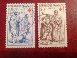 YT 1140 1141 Croix Rouge - Usati