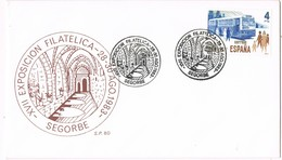 35149. Carta SEGORBE (Castellon)  1983. XVII Exposicion Filatelica Claustro Catedral De Segorbe - 1931-Hoy: 2ª República - ... Juan Carlos I