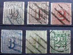 Hamburg 1864/1867, Partie Gestempelt, Geprüft JAKUBEK BPP - Hamburg