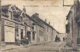 CPA Bourg Et Comin La Rue Principale - Francia