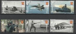 Finlande N° 2537 à 2542 De 2018 - Militaire Soldat Avion Bateau Sous-marin Arme - Used Stamps