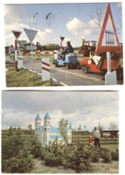 LEGO LEGOLAND 2 Color Postcards Train And Railway 1969-70 - Denmark