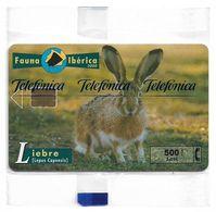 Spain - Telefonica - Fauna Iberica - Liebre Rabbit - P-445 - 10.2000, 8.000ex, NSB - Espagne