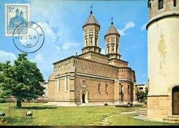50180 Romania, Maximum 1972 Iasi    The Church Hierarsch, Architecture - Cartes-maximum (CM)