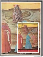 Umm Al Qiwain 1972 Bf. 65 Virgilio Dante Brunetto Latini Divina Commedia Inferno Canto XV Sodomiti Sheet Imperf. - Christianity