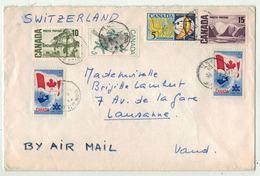 Canada // Lettre Recommandée Pour La Suisse - 1952-.... Regno Di Elizabeth II