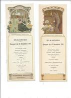 Lot De 4 Menus Printemps été Automne Hiver Fete Ste Cecile 1911 Champagne Mercier Epernay,illustrée Par Sonret - Menus
