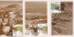 ISRAEL, 2001, Maxi-Card(s), Villages - Kefar-Manahamia SG1536-1538, F5604 - Maximum Cards