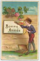 Nieuwjaar 1910 - Reliëf Embossed Gaufrée - Neujahr