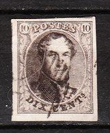 10  Médaillon Non Dentelé - Grandes Marges + 2 Voisins - Bord De Feuille ? - Oblit. - LOOK!!!! - 1858-1862 Medaillen (9/12)