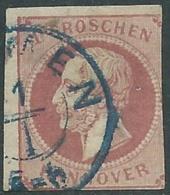 1859-63 GERMANIA ANTICHI STATI HANNOVER USATO 1 G - RB44-7 - Hanovre