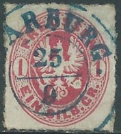 1861-65 GERMANIA ANTICHI STATI PRUSSIA USATO 1 S - RB45-6 - Pruisen