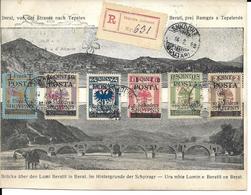 ALBANIE 1919 Yvert N° 67 à 72 Sur Carte-souvenir De L'Albanie Indépendante (édition Limitée) - Albanie