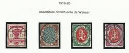 Allemagne N° 106 à 109 Oblitérés De 1919 - Alemania