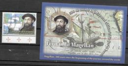 ROMANIA, 2019, MNH, EXPLORERS, MAGELLAN, SHIPS, CIRCUMNAVIGATION OF THE WORLD,1v +S/SHEET - Explorateurs