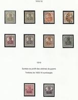 Allemagne N° 96 à 103 Et 104 105 De 1916 1919 - Allemagne