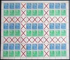 ZUSAMMENDRUCKE MHB 1-3 **, 1955, 3 Markenheftchenbogen Fünfjahresplan Komplett, Postfrisch, Pracht, Mi. 910.- - Zusammendrucke