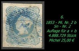 1853 - Mi. Nr. 2 B - 1853 : D.Maria