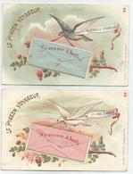 2 Kaarten - Le Pigeon Voyageur - Souvenir D'amitié - Verstuurd 1905 - Fêtes - Voeux