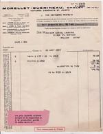 49-Morellet-Guérineau...Voitures D'Enfants & Jouets. Cholet (Maine &  Loire)  1937 - Autres