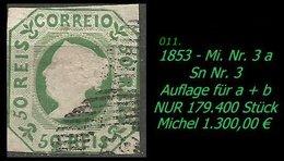1853 - Mi. Nr. 3 A -RRR- - 1853 : D.Maria