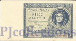 POLAND 5 ZLOTYCH 1930 PICK 72 AUNC - Pologne