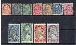 ALBANIA - 1928 - Commemorazione Dell'Incoronazione Di A. Zogu - Sovrastampati - 11 Valori - Nuovi * E Usati - (FDC19119) - Albania
