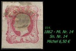 1853 - Mi. Nr. 14 - 1855-1858 : D.Pedro V