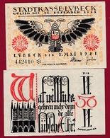 Allemagne 50 Pfenning Stadt Lübeck  Dans L 'état N °5477 - [ 3] 1918-1933 : República De Weimar