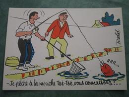 ROLDI - Je Pêche à La Mouche Tsé-Tsé, Vous Connaissez ?.....(variante Couleurs) - Illustratori & Fotografie