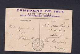 Cachet Campagne De 1914 Corps Expeditionnaire Service Militaire Sur CPA Langres Avenue De La Citadelle ( Ref 59964) - Langres