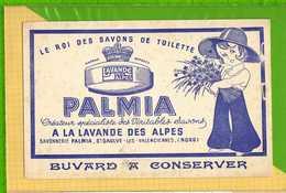 Buvard & Blotting Paper : Le Roi Des Savons PALMIA  A La Lavande Des Alpes Recto Verso - Parfum & Kosmetik
