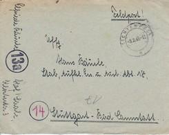 Feldpost Mit Inhalt - Lichtenfels Nach Aufkl. Ers. U. Ausb. Abt. 18 Stuttgart - 1943 (46217) - Deutschland