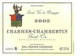 Etiquette  Charmes Chambertin Domaine Castagnier 2005 - Bourgogne