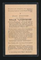 BEGIJN ROSALIE VANDERVENNET - MEYGEM 1846 - GEKLEED GROOT BEGIJNHOF CONVENT TER VELDEN 1865 - ST.AMANDSBERG 1898 - Overlijden