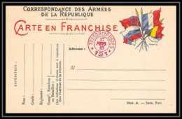 42306 Carte Postale En Franchise Secteur 121 En Rouge 1915 Guerre 1914/1918 War Postcard - Marcophilie (Lettres)